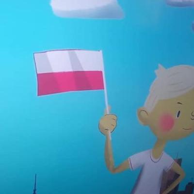 Przedszkolaki z flagą 20